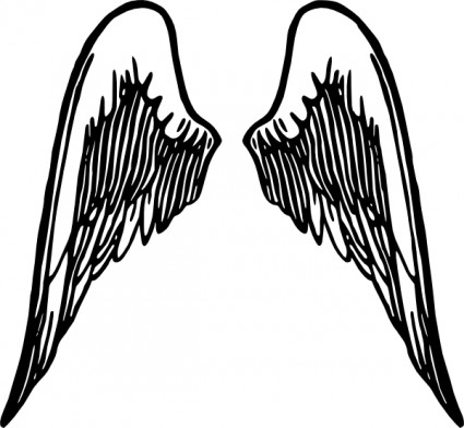 Angel Wings Tattoo Clip Art Free Vector In Open Office Drawing Svg