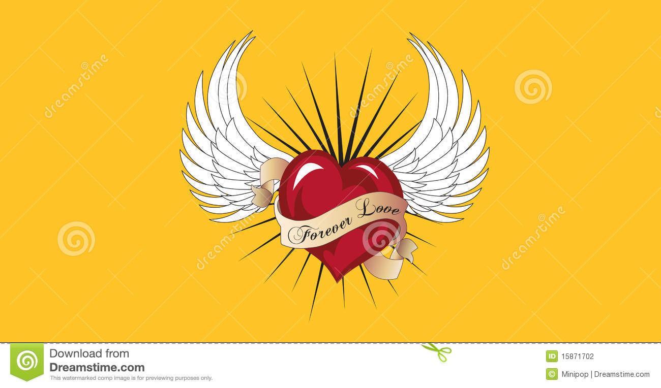 Angel Wings With Heart Clip Art Suitable For Clip Art