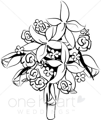 Clipart Bridal Bouquet   Flower Bouquet Clipart