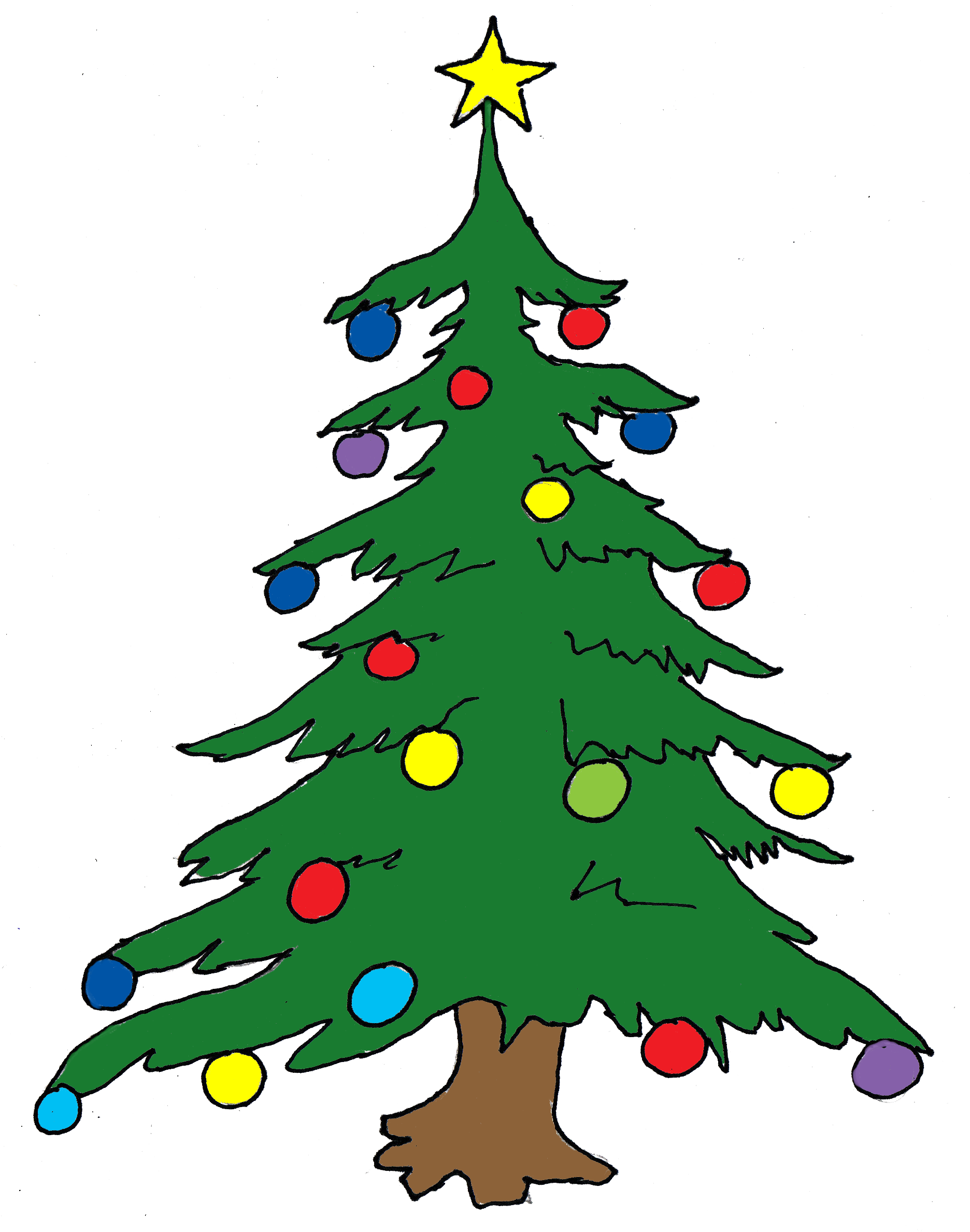 Pretty Christmas Tree Clipart - Clipart Suggest