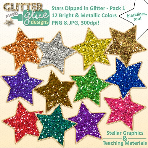 Glitter Clipart Pack 1 Perfect For President S Memorial Day   Clipart