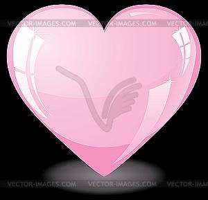 Glitter Pink Heart   Vector Clip Art