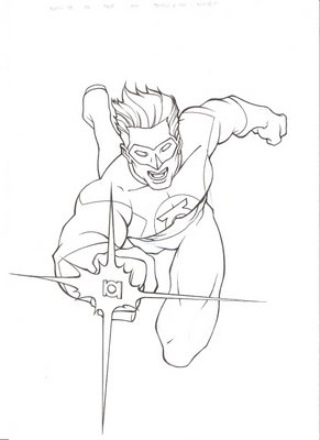 Green lantern drawing clipart clipart suggest for Green lantern coloring page