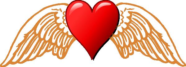 Heart And Wings Clip Art At Clker Com   Vector Clip Art Online