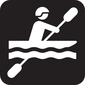 Kayaking Black Clip Art At Clker Com   Vector Clip Art Online Royalty