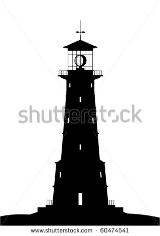 Lighthouse Silhouette Clipart - Clipart Kid