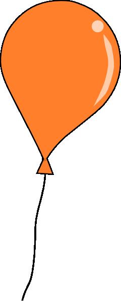 Orange Balloon String Clip Art At Clker Com   Vector Clip Art Online