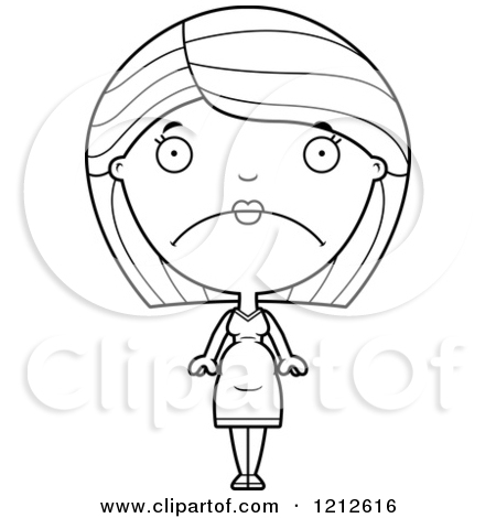 Royalty Free  Rf  Sad Woman Clipart Illustrations Vector Graphics  1