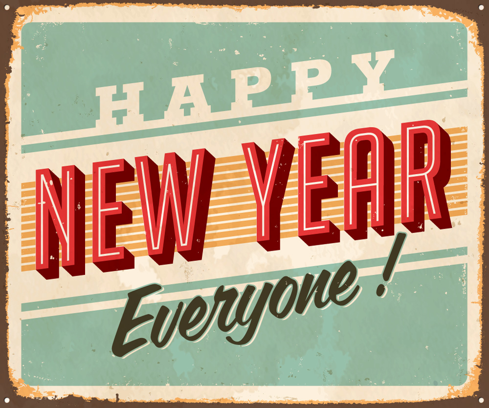 Sign Vintage New Year Clipart - Clipart Suggest