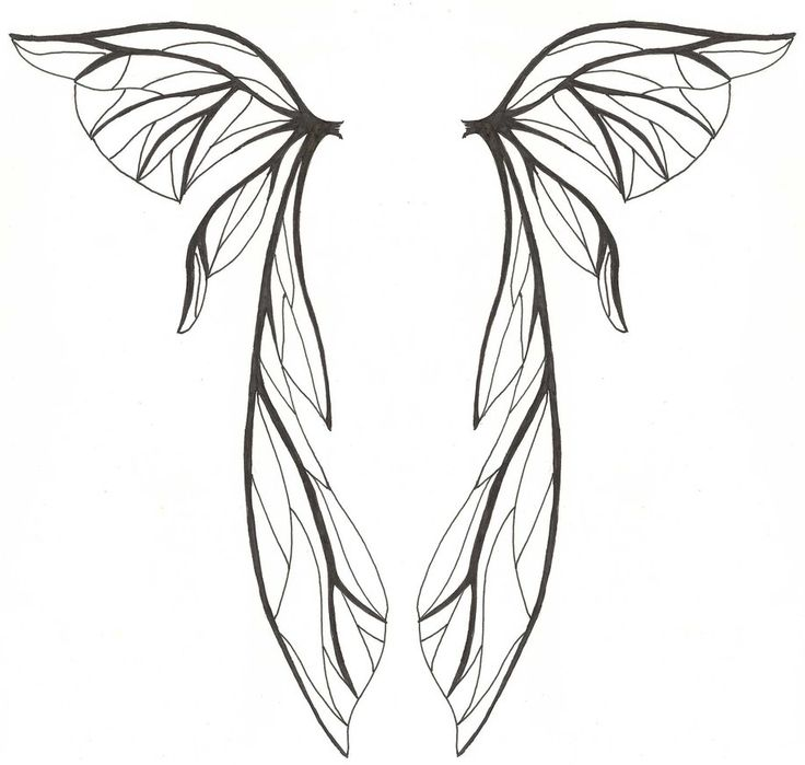 Wing With Broken Heart Clip Art   Tribal Wing Tatoo       Angels Wings