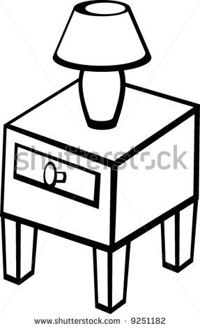 Clip Art Bedside Table Clipart - Clipart Kid