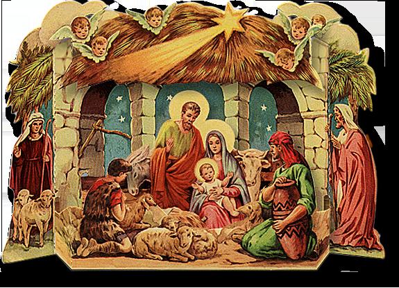 Vintage Nativity Scene Clipart - Clipart Kid
