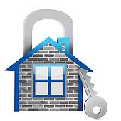 Demonstrating Home Security   Clipart Graphic