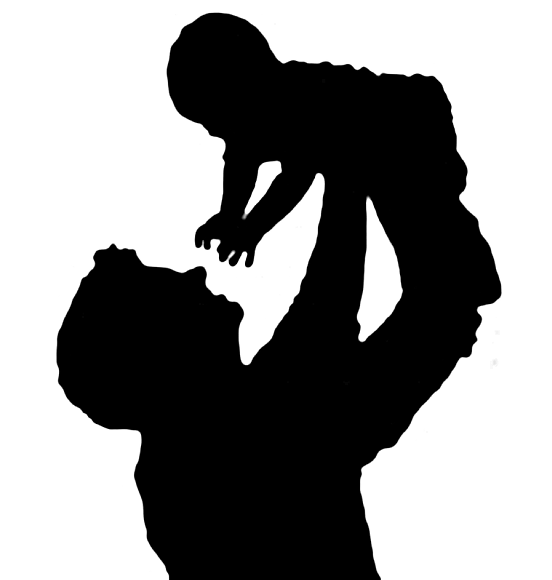 Father Cradling Baby Father Holding Baby In The Air Silhouette