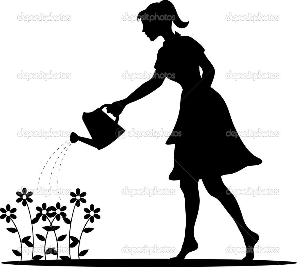 clip art girl silhouette - photo #46