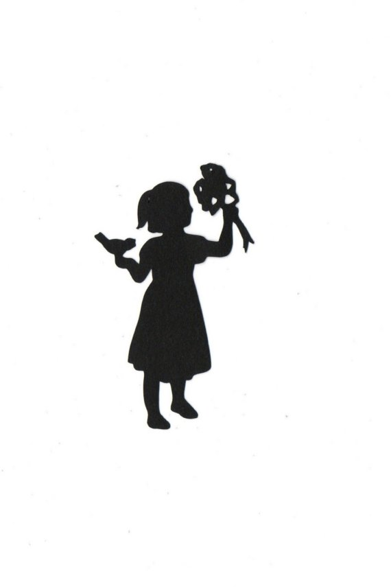 Pics For > Bridesmaid With Flowers Silhouette Clip Art