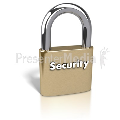 Gold Padlock Security Text   Home And Lifestyle   Great Clipart For