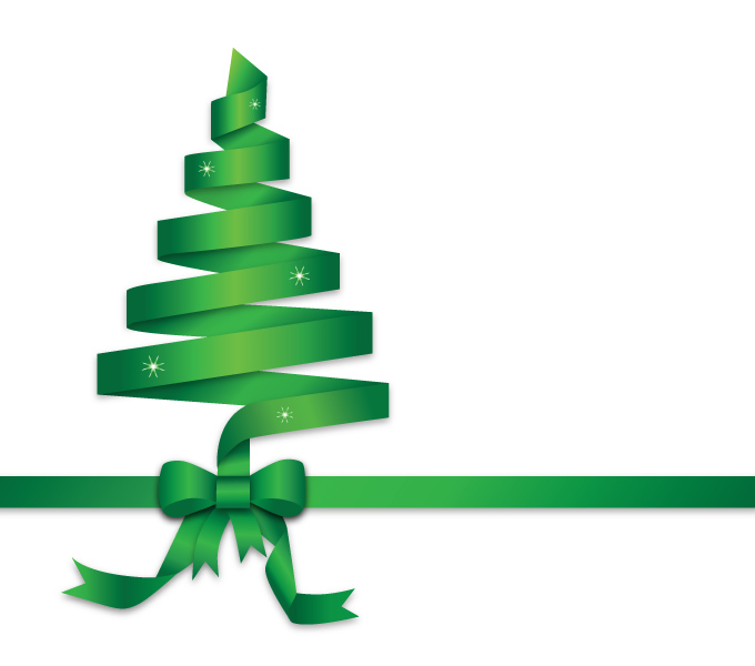 Green Christmas Ribbon Clip Art