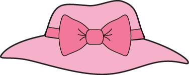 Pink Girls Hat With A Bow Clip Art   Pink Girls Hat With A Bow Image