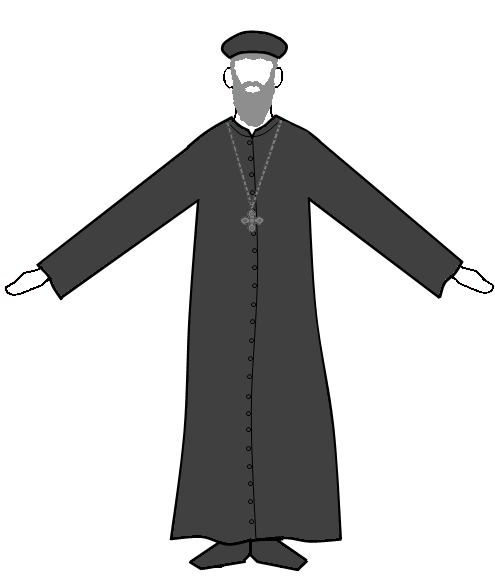 Priest Clipart Black And White Priest Clipart