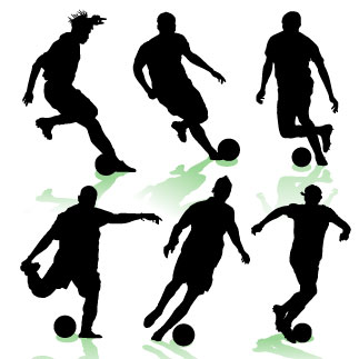 Related Soccer Players Cliparts