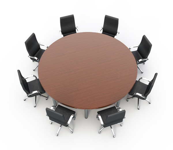 Round Table And Chairs Clipart Clipart