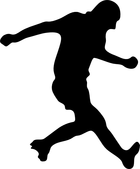 Soccer Player Silhouette Clip Art At Clker Com   Vector Clip Art