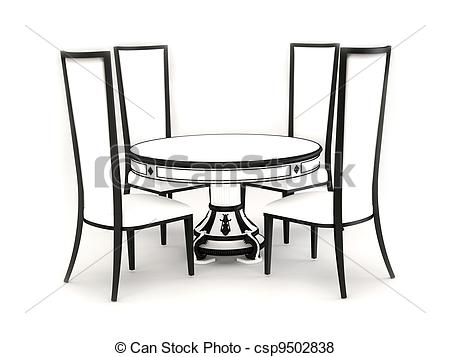 round table and chairs clipart clipart kid