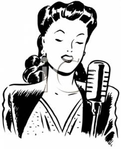 Black Woman Singing Clipart - Clipart Kid