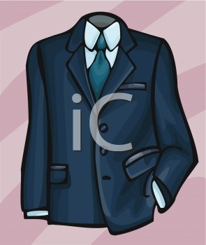 0511 0811 2403 4419 Suit Coat Shirt And Tie Clipart Image Jpg
