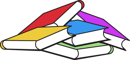 Book Pile Clip Art Image   Bunch Of Colorful Books In A Big Pile