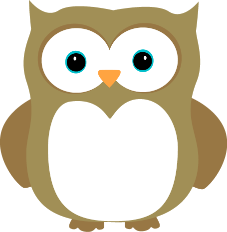 Brown Owl Clip Art Image   Adorable Brown Owl With Blue Eyes And Dark