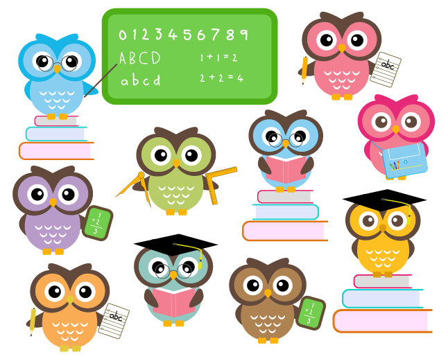 Buy 2 Get 2 Free Cute Owls At School By Dennisgraphicdesign