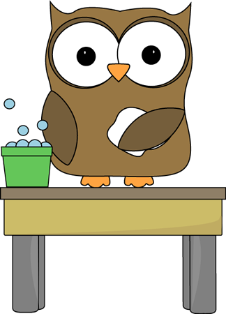 Classroom Table Clipart Owl Table Washer Clip Art