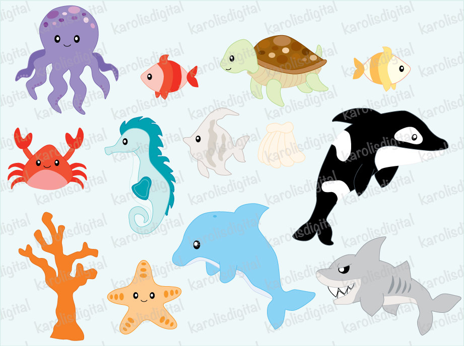 Clip Art Sea Creatures Clip Art Sea Creatures Clip Art Baby Sea