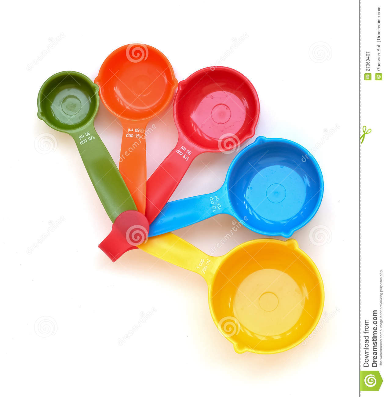 Dry Measuring Cup Clipart Colored Measuring Cups 27360407 Jpg