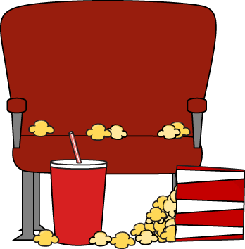 Empty Movie Theater Seat Clip Art Image   Empty Movie Theater Seat