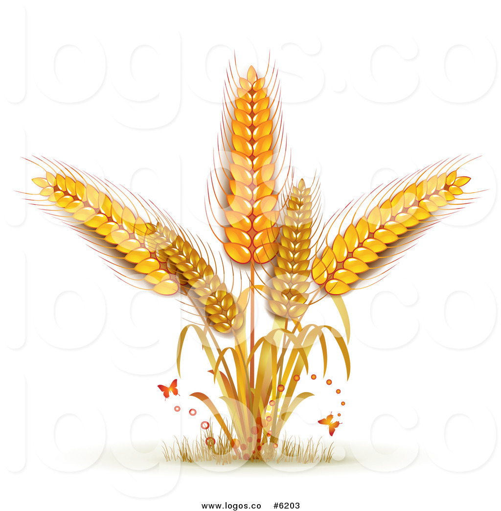 Free Clip Art Vector Logo Of Butterflies And Wheat By Merlinul    6203