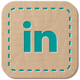 Hand Stitched Linkedin Icon
