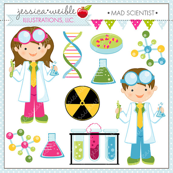 Mad Scientist Cute Clipart Scientist Kids Science Clip Art
