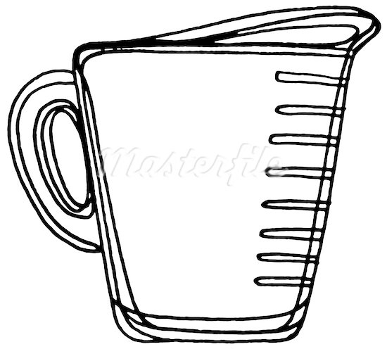 Measuring Cup Clipart Black And White   Clipart Panda   Free Clipart