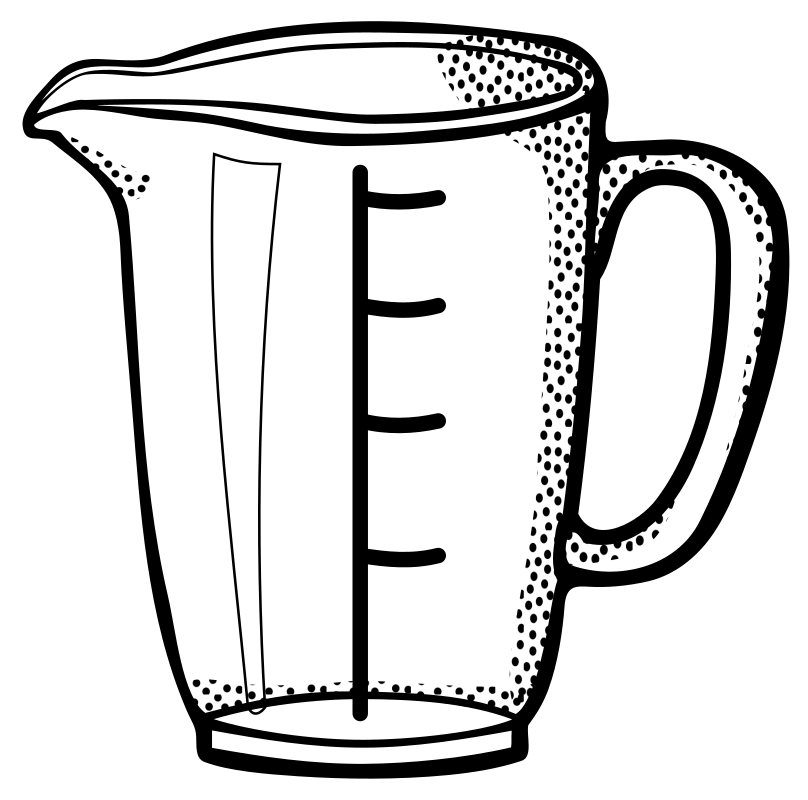 Measuring Cup   Lineart