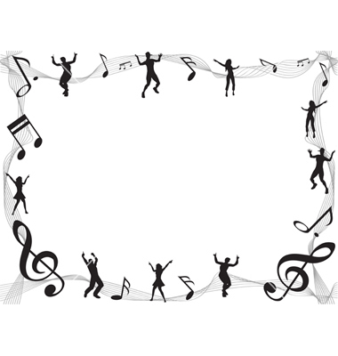 Musical Border Vector By Huhulin   Image  1008436   Vectorstock