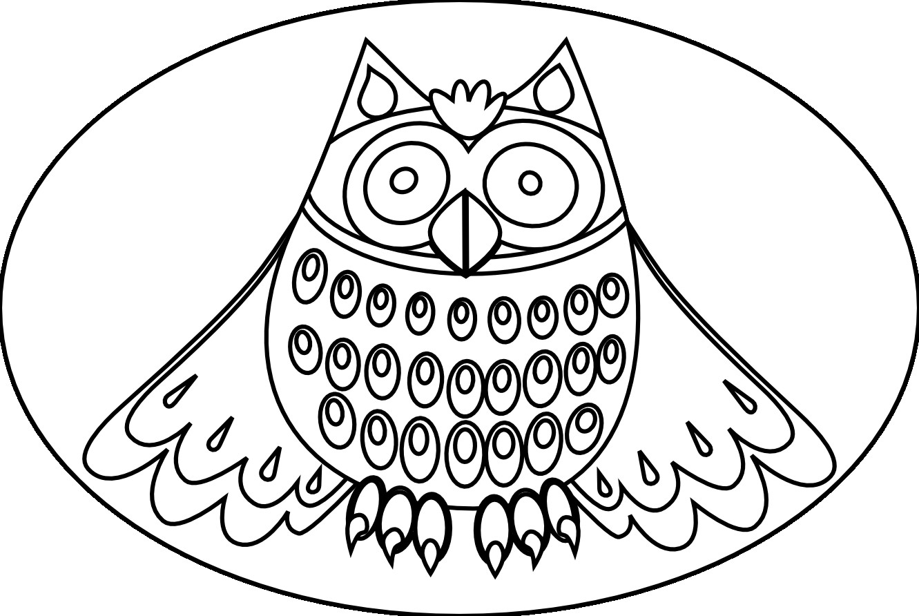Owl Coloring Pages Resolution 1331x892 Categories Owl Added May 28