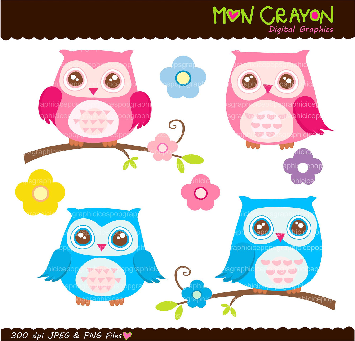 Owl Owl Clip Art Printable Owl Colourful Hoot By Moncrayon