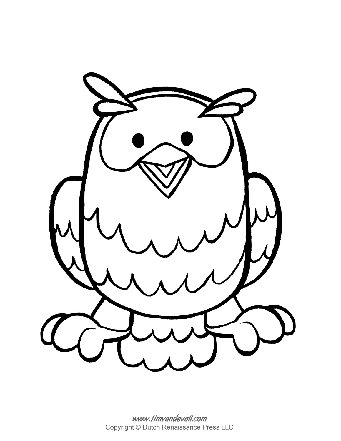 Printable Owl Template Owl Coloring Pages And Owl Clipart