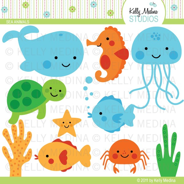 Sea Animals Clip Art Cute Sea Animals Clip Art Baby Sea Animals Clip