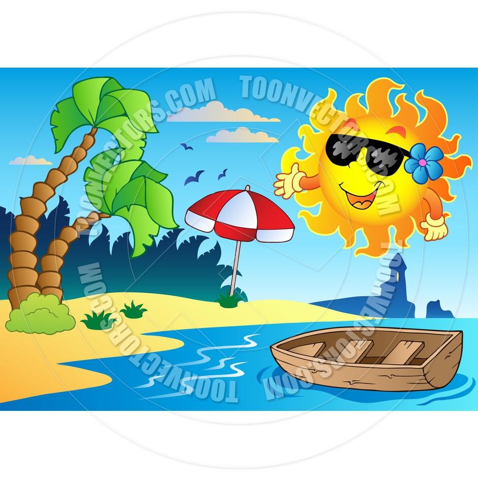 Summer Season Clipart Cartoon Summer Theme Image