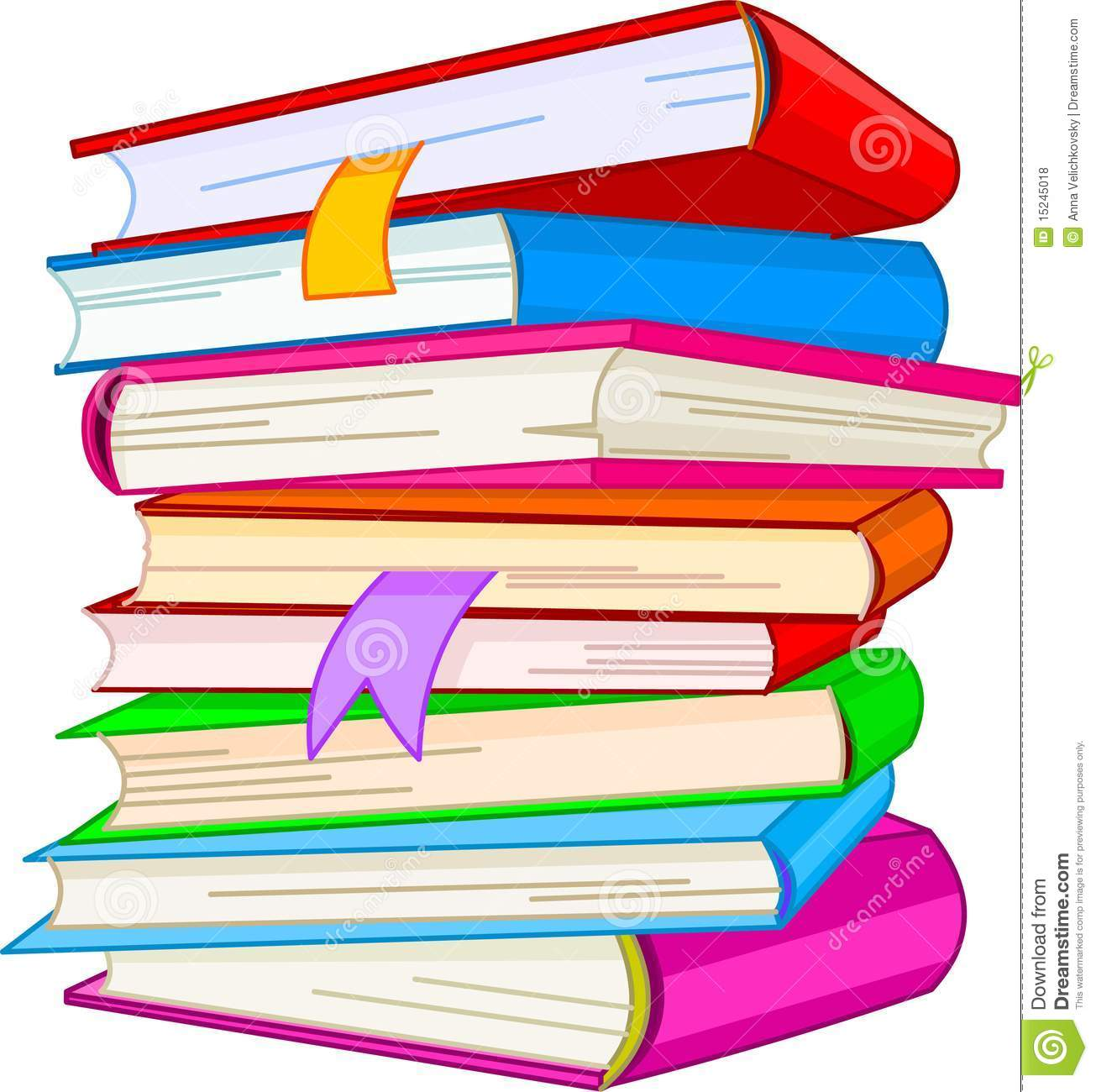 Tall Stack Of Books Clipart Pile Book 15245018 Jpg