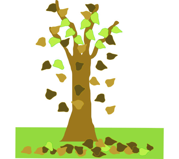 Tree With Leaves Falling Clip Art At Clker Com   Vector Clip Art